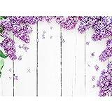 Fondo de fotografía Personalizado de Vinilo tablones de Flores y Madera Fondo de fotografía de Tema A4 1,5x1 m