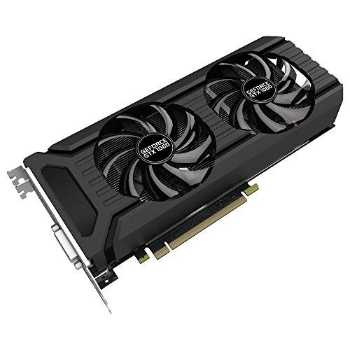 Palit NE51060015J9-1060D GeForce GTX 1060 Dual 6 GB Grafikkarte (GDDR5, 8000 MHz, 16x PCI-Express 3.0, Schwarz/Silber)