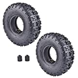 RUTU - 2 confezioni da 4.10-4 410-4 4.10/3.50-4 camere d'aria + pneumatici di ricambio per giardino, motocoltivatore di neve, ventilatore tosaerba, per camion e carriola