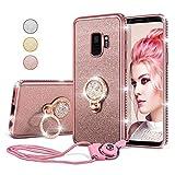 UEEBAI Case For Samsung Galaxy A8 2018, Glitter Soft TPU