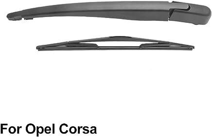 SLONGK Brazo del Limpiaparabrisas Trasero Y Escobilla del Limpiaparabrisas Trasero, para Opel Corsa 2006-