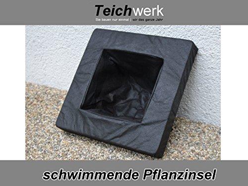 Schwimmende Pflanzinsel Gartenteichinsel Pflanzeninsel schwimmend (20 x 20 cm Minirechteck)