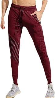 YYG Men's Gym Workout Ruched Elastic Waist Gym Bodybuilding Regular Fit Sweatpants Pants Trousers