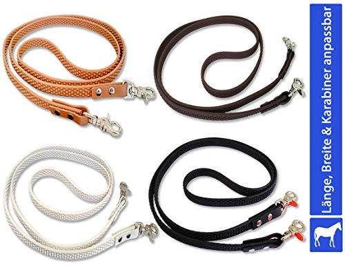 bio-leine Geschlossene Zügel für Pferde Ponys - 2 bis 3m lang I 12-19mm breit - Pferdezügel aus Supergrip BioThane I schmutz- und wasserabweisend - in 4 Farben