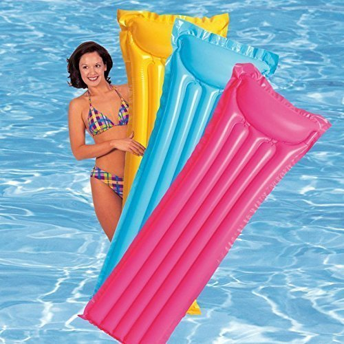 Intex Inflatable Glossy Float Swimming Mat - Water Aqua Fun (Assorted Colors)