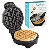 Belgian Waffle Maker- Non-Stick 7' Waffler Iron w Adjustable Browning Control