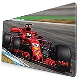 F1 Formula One Sebastian Vettel Ferrari Racing Car Box Large Gaming Mouse Pad Extended Long Desk Pad 30'x16' Mousepad Non-Slip Rubber Stitched Edges Keyboard Pad for Computers Laptop