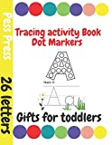 Gifts for toddlers: Tracing Activity Book Dot Markers | Easter activities for kids Fun Ages 4 to 6| Preschool to Kindergarten, Tracing, Printing, Letters, Sounds, Phonics, Wipe Clean