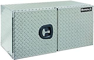 Buyers Products Diamond Tread Aluminum Underbody Truck Box w/Barn Door (24x24x48 Inch)