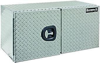 Buyers Products Diamond Tread Aluminum Underbody Truck Box w/Barn Door (24x24x60 Inch)