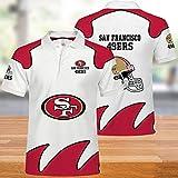NFL T-Shirts Super Bowl San Francisco 49ers Maillots Football Américain Polo Hommes Chemises pour Hommes Et Femmes-T-Shirt De Rugby Fans De Football Football Supporters-Unisexe XL