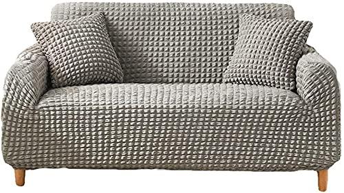 QZMX Funda de sofá elástica para sofá, funda de sofá para sala de estar, fundas de sillón, fundas de sofá, fundas de muebles, tela jacquard suave, gruesa, lavable, E, fundas de sofá de 3 asientos