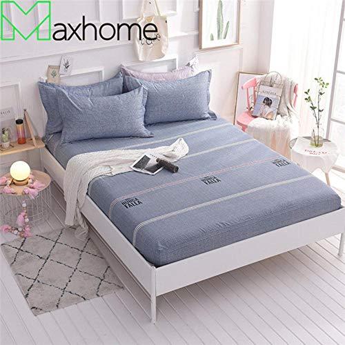 PENVEAT 100% Coton Drap Housse de lit Housse de Matelas Housse de lit avec Bande élastique Matelas Protecteur Lavable en Machine, Nunca, 180x200cm
