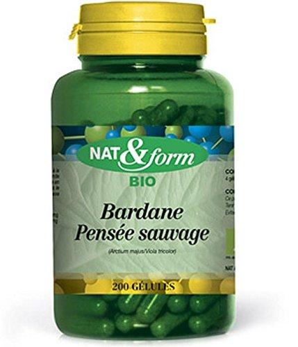 Bardane-pensee Sauvage Bio 200 Gelules - Nat Et Form - Atlantic Nature