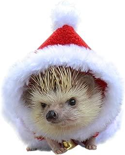 Preferhouse Hand Made Hamster Guinea Pig Santa Headwear Costume Hedgehog Christmas Cute Mini Clothes Keep Warm