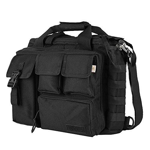 Kaxofang Bolsa de Mensajero de multifuncion de de Nylon tactico Militar al Aire Libre para Hombres Suficientemente Grande para Ordenador portatil de 14'////Olympus/Negro