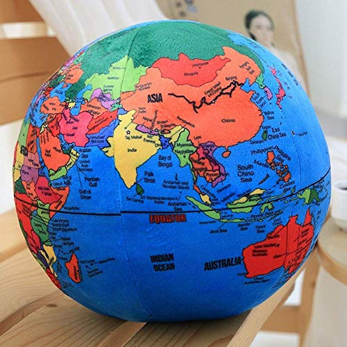 1Pcs Simulation Bol Van De Aarde World Map Pluchen Speelgoed Kussen Kussen De Baby Doll Puzzle Gift Boy Ball