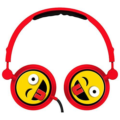 HYPE VS-814-EMJ-WNK Kopfhörer Emoji Clin Auge, Rot