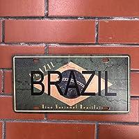 アメリカのナンバープレートヴィンテージメタルサインブリキサインレトロガレージ装飾プラークメタルバーと寝室の装飾鉄板15x30cm