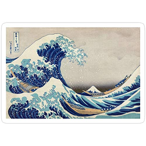 Stickers Best Price Magnets - T-Shirts Prints Etc - Hokusai - The Great Wave Off Kanagawa - 1823 3x4 Inch Water Bottle Backpack (3 Pcs/Pack) Decals Wall