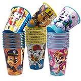 JuniorToys Design per bicchieri Paw Patrol, 24 pezzi, 230 ml, ideale per feste e compleanni dei bambini