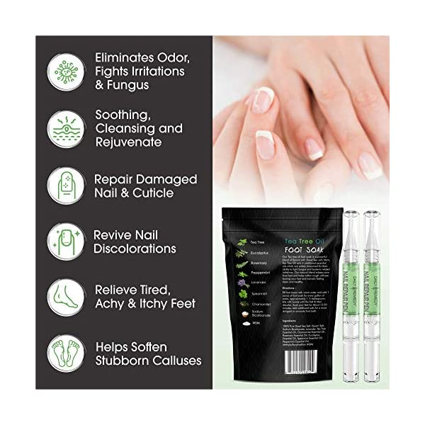 Beauty Shopping 2 in 1 Foot Care Treatment Kit – Includes Tea Tree Oil Foot Soak & Nail