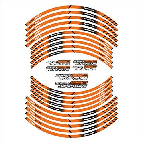 PSLER Pegatinas para llanta Super 1290 Adventure(naranja)