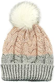 accsa Toddler Kid Girl Chunky Warm Textured Beanie Hat