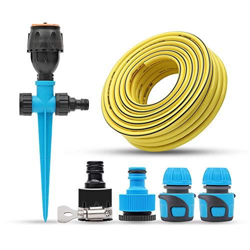 ZMXZMQ - Aspersor de césped ajustable con control de flujo integrado, ángulo de haz ajustable, dirección y longitud, Sprinkler + pantalones de 40 m., large