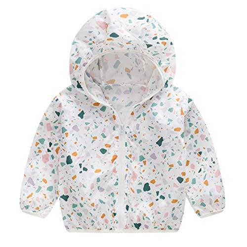 Zylione MäDchen Sonnenschutz Kleidung Kinder Baby Langarm-Karikatur Druck DüNne Sommer Sonnencreme Mantel