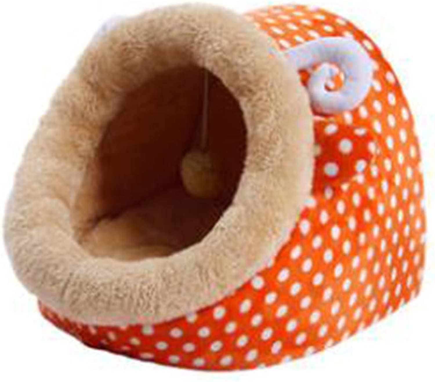 Plush Cat Bed, Warm, Cozy and Durable Cat Bed, Suitable for Large Cats and Kittens(33cm33cm31cm,orange)