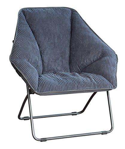 Gray Hexagon Folding Dish Chair chair gaming gray