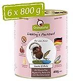 GranataPet Comida húmeda para Perros de Liebling's Essen, salmón y Pavo, Comida húmeda para Perros, sin Cereales y sin aditivos de azúcar, 6 x 800 g