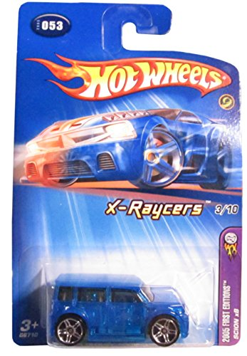 2005 Hot Wheels Kmart Exclusive First Editions X-Raycers Scion xB Transparent Blue #2005-053