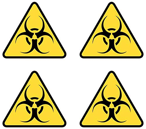 Samunshi® Buntes 4-teiliges Biohazard Aufkleber Set Biohazardaufkleber