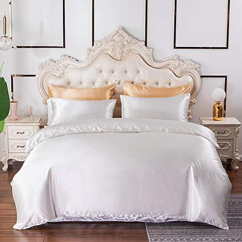 Chanyuan - Juego de ropa de cama (3 piezas, funda de edredón de 200 x 220 cm, funda de almohada de 80 x 80 cm), color gris antracita