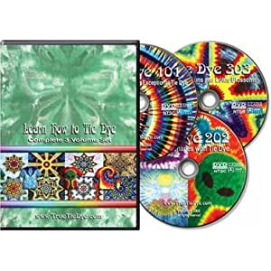 """""""Learn How to Tie Dye"""" complete 3-volume set"""