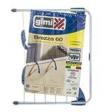 GIMI Brezza 60 Stendibiancheria da Balcone, Stendino Estensibile, Spazio di Stenditura 5 m...