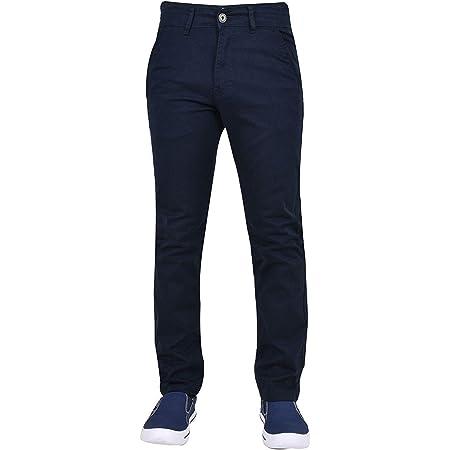 Enzo Men EZ348 Chino Jeans Navy 40W x 32L