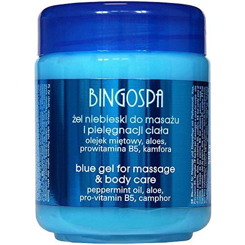 BINGOSPA Bleu Gel de massage pour les douleurs musculaires et des douleurs articulaires - 500ml