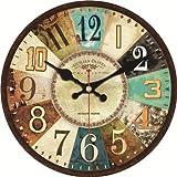 Reloj de Pared con diseño Moderno y silencioso para salón, decoración de Pared, decoración de casa, Reloj de Pared, 13707, Diameter 14inch