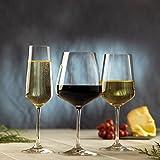 Villeroy & Boch Ovid Weißweingläser, 4er-Set, 380 ml, Kristallglas, Klar - 5