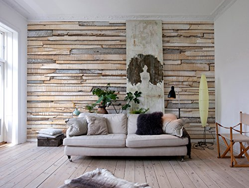 mural - Whitewashed Wood