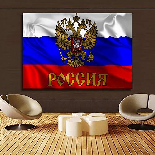 1000pcs_Wooden Adult Puzzle_Minimalist Russian Flag_Mini Puzzle, Juego de Rompecabezas para Adultos, Rompecabezas difícil_50x75cm