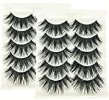 2 Box/Lot 3D False Eyelashes MZ BEAUTY Luxurious Fluffy Messy Cross Long 10 Pairs Fake Eye Lashes GF29