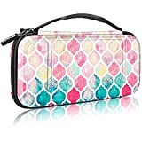 Fintie Carry Case for Nintendo Switch - [Shockproof] Hard Shell Protective Cover Travel Bag w/10 Game Card Slots, Inner Pocket for Nintendo Switch Console Joy-Con & Accessories, Moroccan Love