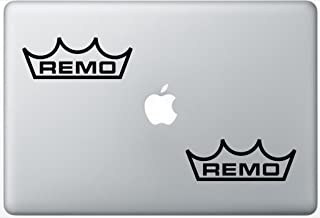 Remo-Drums ArcDecals78602562 Set Of Two (2x) , Decal , Sticker , Laptop , Ipad , Car , Truck