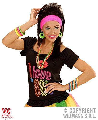 *** ANGEBOT *** 26 Teile - 80er JAHRE SCHMUCK SET - ( Halsketten + Armreifen ) Kombinationen Kostümkombinationen Partyverkleidungen