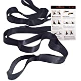 SANKUU 12 Loops Yoga Stretch Strap for Physical Therapy with Exercise Instruction