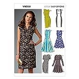 Vogue 9050 - Cartamodelli per Abiti da Donna, Taglie Piccole (6/8/ 10/12/ 14), Multicolore